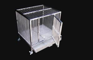 Photo of Heavy Duty Dog Crate on a black background
